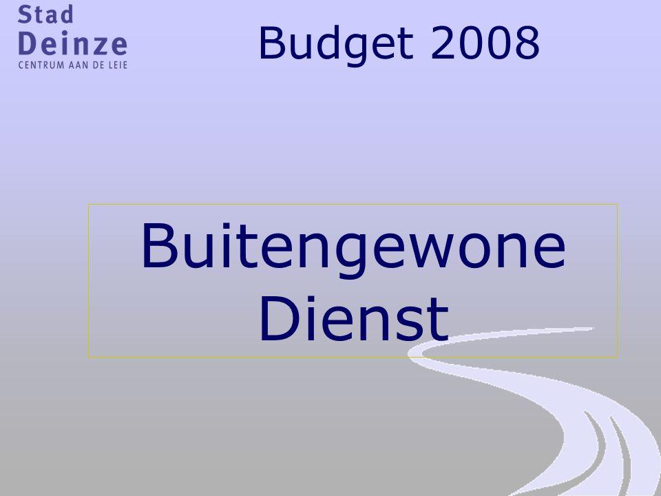 Budget 2008 Buitengewone Dienst