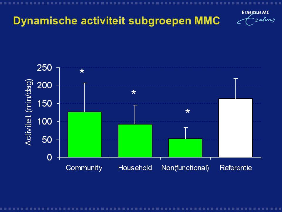 Dynamische activiteit subgroepen MMC * * *