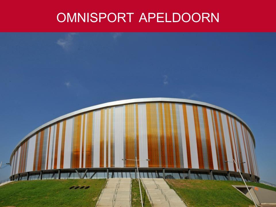 50 tot 10.000 gasten Ruim 4.000 parkeerplaatsen Slechts één uur rijden vanaf Amsterdam, Rotterdam en Antwerpen OMNISPORT APELDOORN