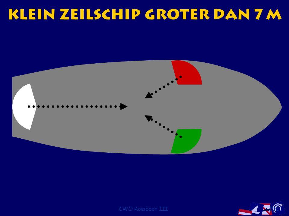 CWO Roeiboot III102 Klein zeilschip groter dan 7 m