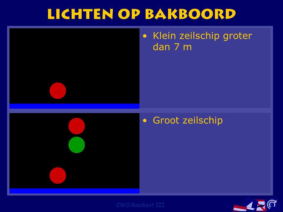 CWO Roeiboot III118 Lichten op bakboord Groot zeilschip Klein zeilschip groter dan 7 m