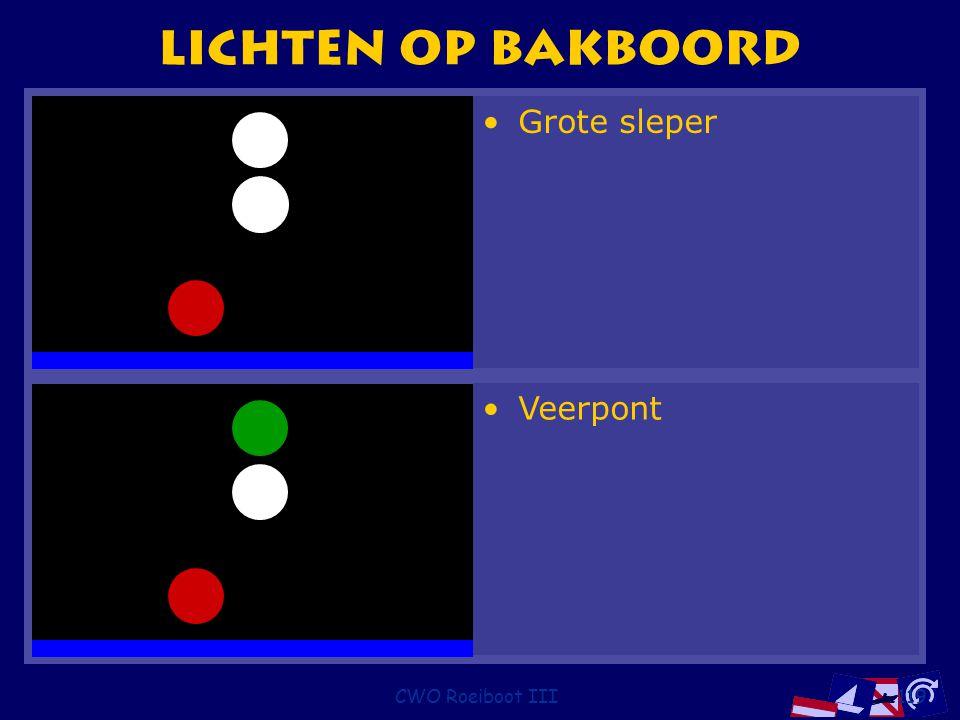CWO Roeiboot III119 Lichten op bakboord Veerpont Grote sleper