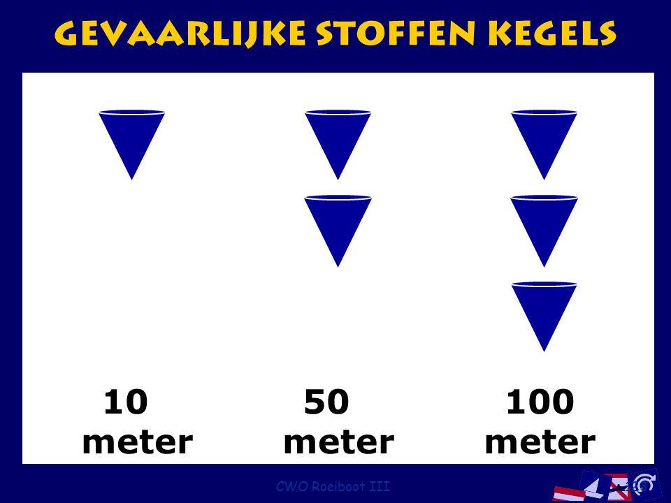 CWO Roeiboot III123 1050100 metermetermeter Gevaarlijke stoffen kegels