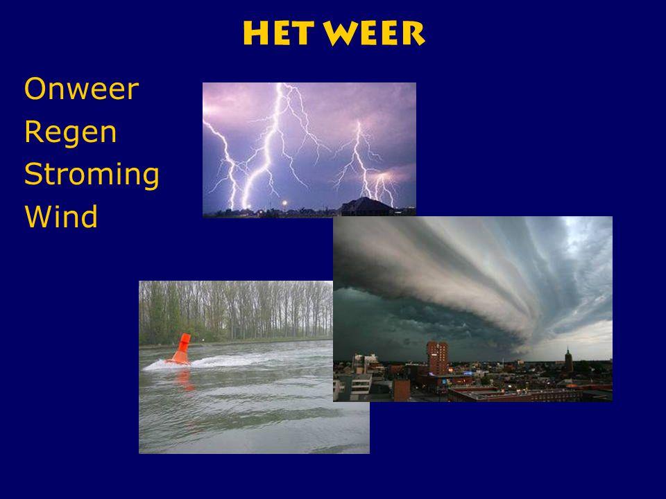 CWO Roeiboot III134 HET Weer Onweer Regen Stroming Wind