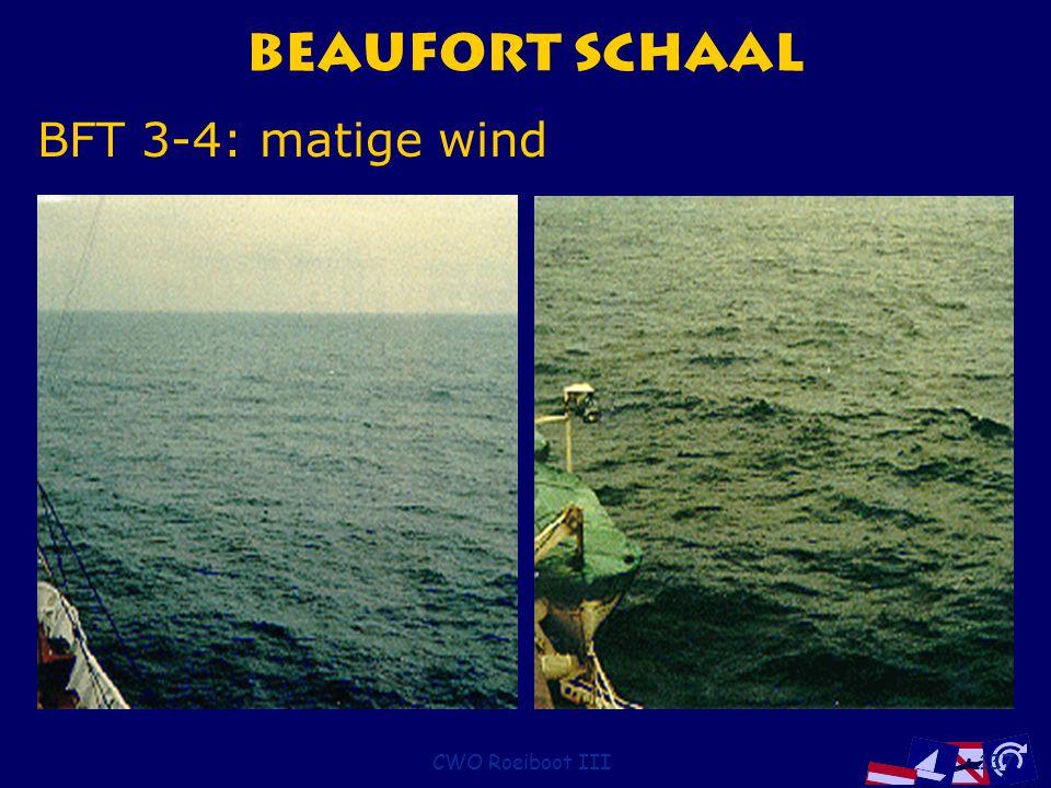 CWO Roeiboot III137 Beaufort Schaal BFT 3-4: matige wind