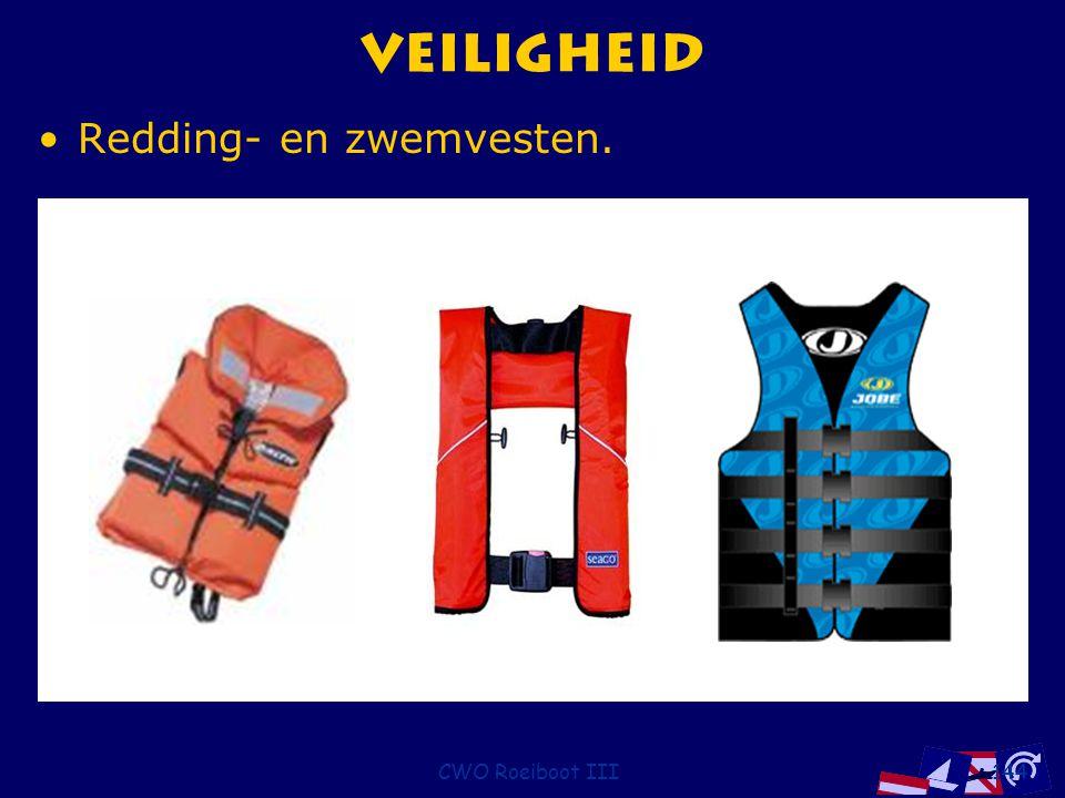CWO Roeiboot III144 Veiligheid Redding- en zwemvesten.