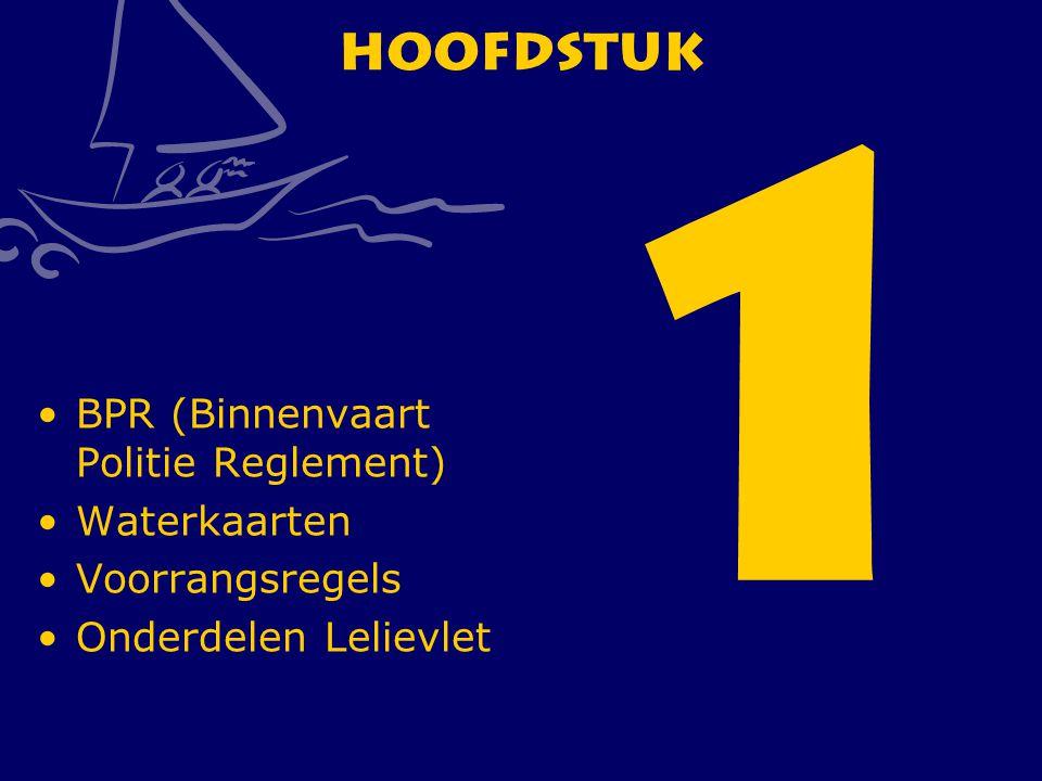 CWO Roeiboot III4 Hoofdstuk 1 BPR (Binnenvaart Politie Reglement) Waterkaarten Voorrangsregels Onderdelen Lelievlet