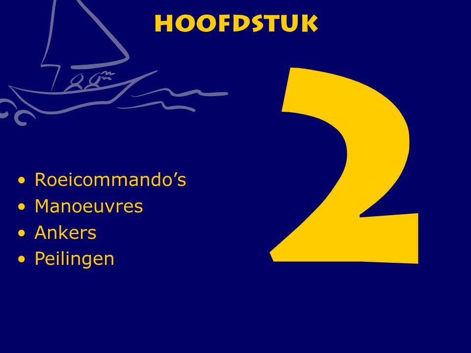 CWO Roeiboot III48 Hoofdstuk 2 Roeicommando's Manoeuvres Ankers Peilingen
