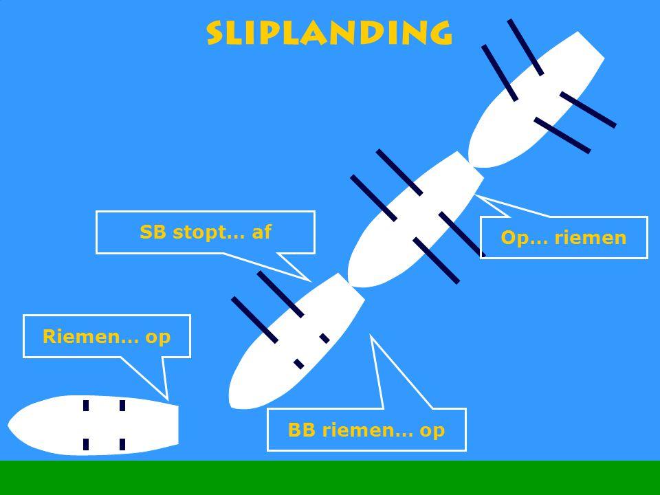 CWO Roeiboot III54 Sliplanding SB stopt… af Op… riemen BB riemen… op Riemen… op