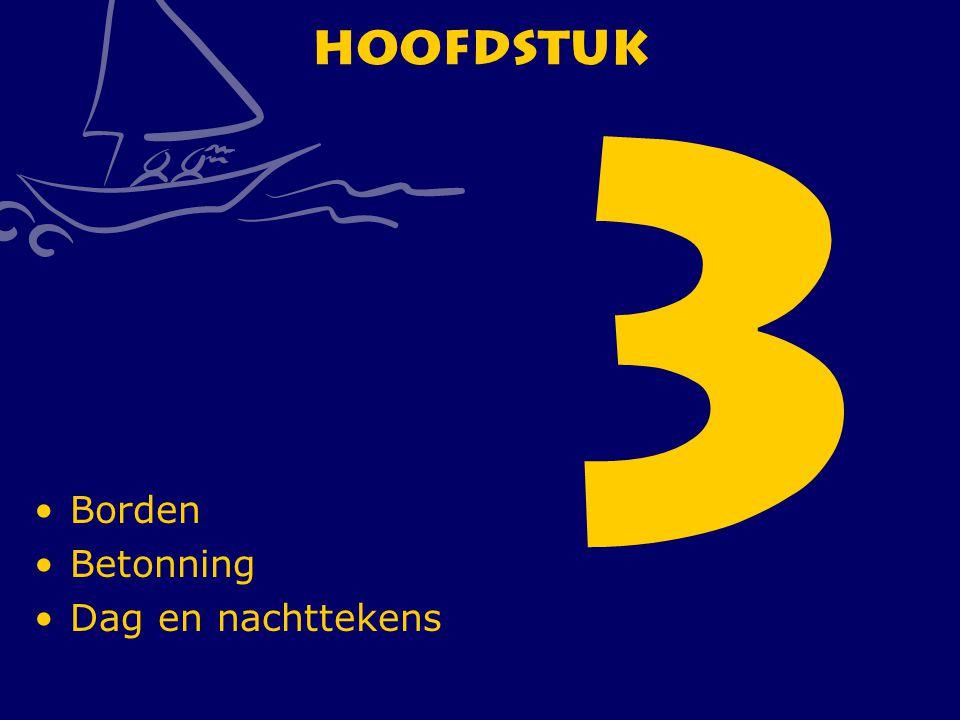 CWO Roeiboot III66 Hoofdstuk 3 Borden Betonning Dag en nachttekens