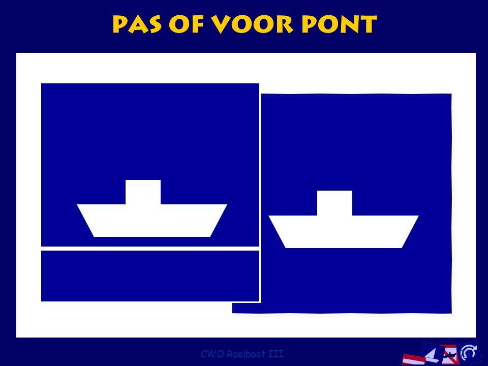 CWO Roeiboot III73 Pas of voor pont