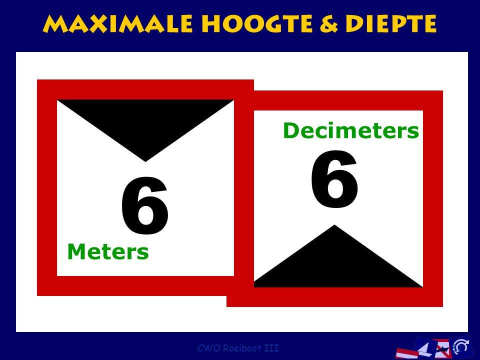 CWO Roeiboot III82 Maximale Hoogte & Diepte 6 6 Meters Decimeters