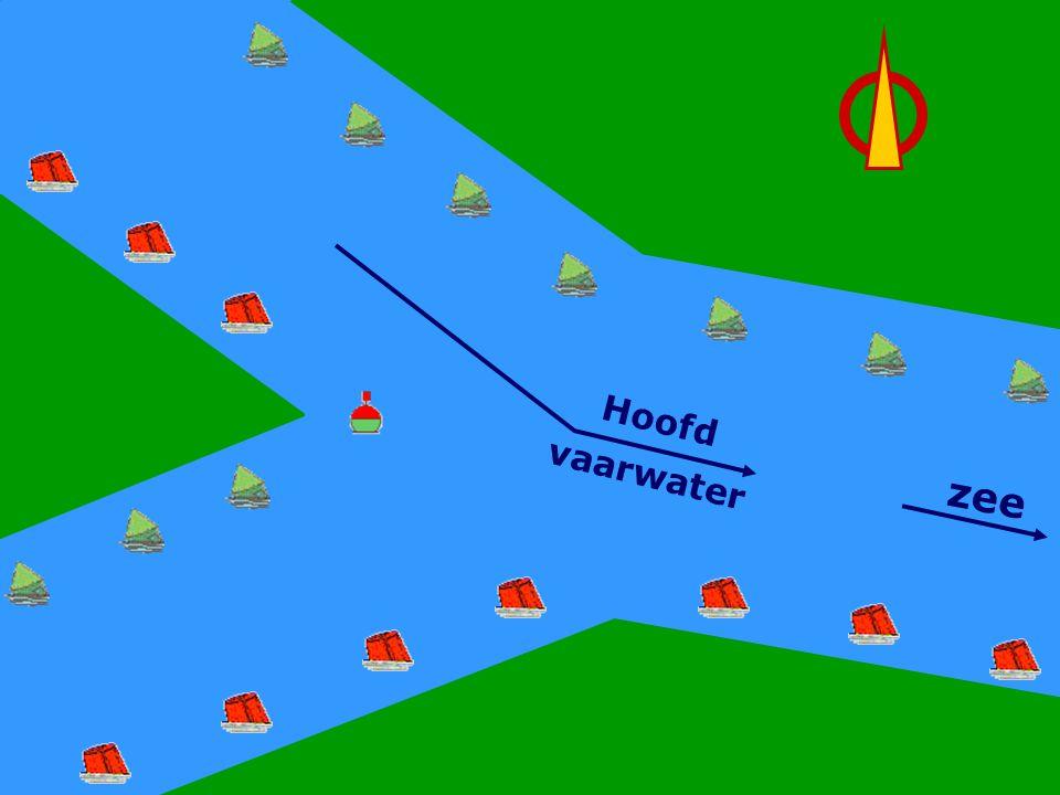 CWO Roeiboot III89 Hoofdwater Rechts zee Hoofd vaarwater