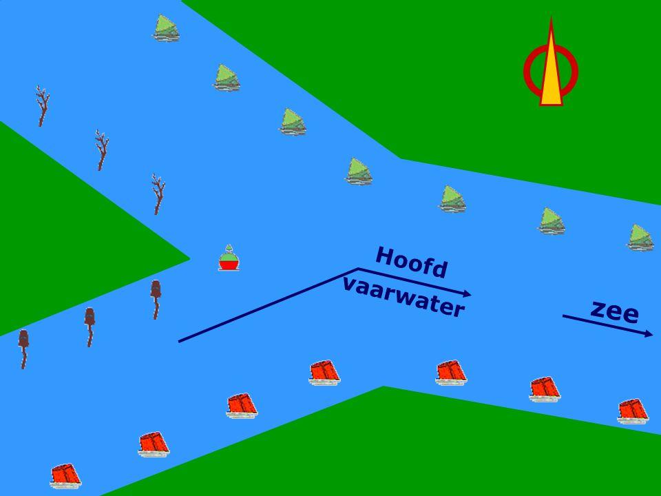CWO Roeiboot III90 Hoofdwater Links Hoofd vaarwater zee