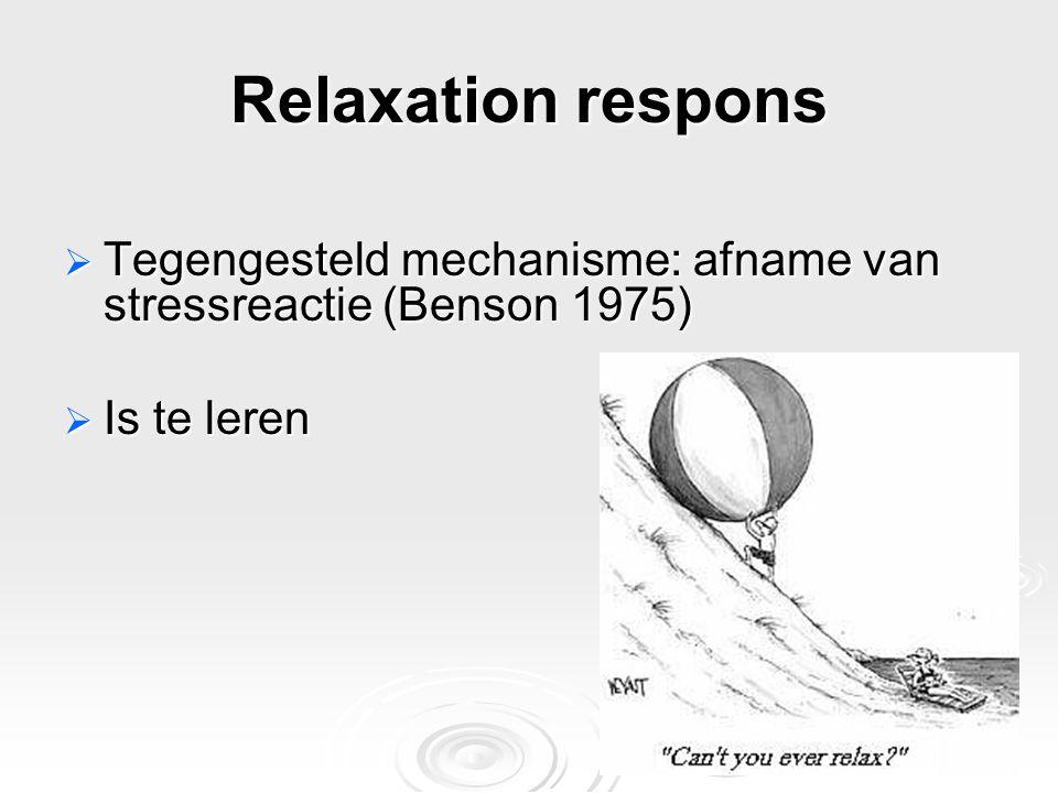 Vermindering van stress (non-farmacologisch)  Goede voorlichting over ingreep/behandeling  Goede communicatie en aandacht  Stimuleren van fysieke oefeningen, voeding, etc.