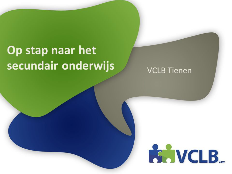 Op stap naar het secundair onderwijs VCLB Tienen