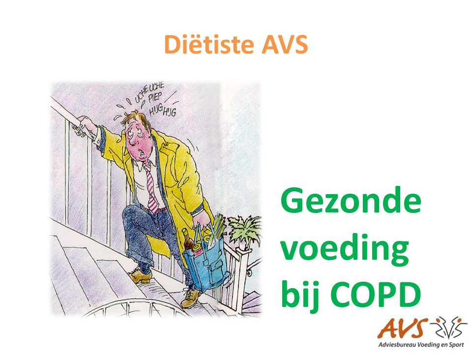 Diëtiste AVS Gezonde voeding bij COPD