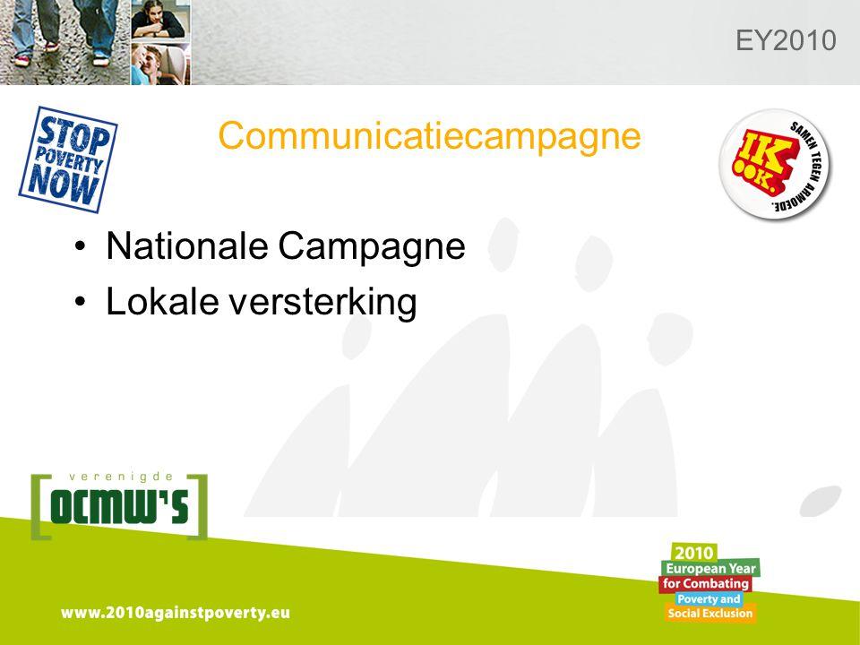 Logo van de desbetreffende sectie hier toevoegen EY2010 Communicatiecampagne Nationale Campagne Lokale versterking