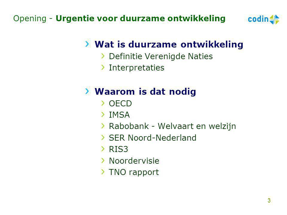 Opening - CODIN en de projectgroep Initiatiefgroep Projectgroep Noorden Duurzaam Elly Pastoor Jaap Bosma Peter Bootsma Jannes Schoemaker Henk de Vries 4