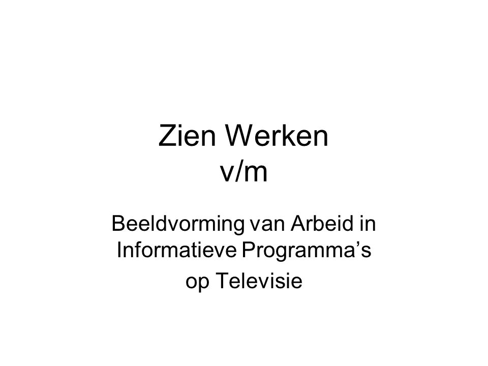 Magda Michielsens ESF-project: http://www.arbeidinbeeld.be http://www.arbeidinbeeld.be MOH: http://www.moh.behttp://www.moh.be