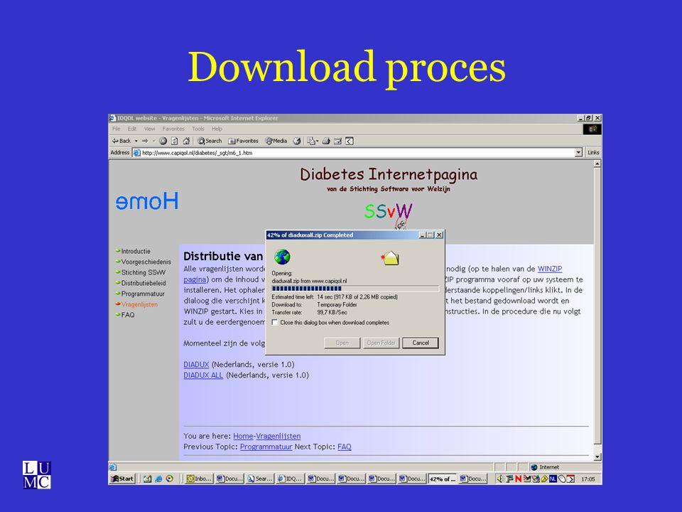 Download proces