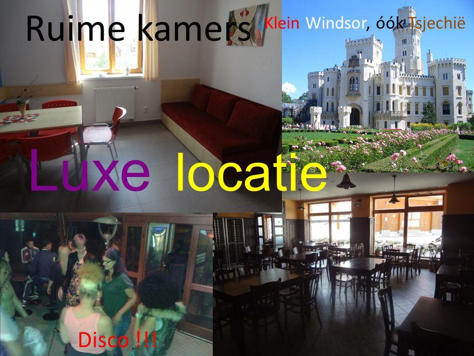 Ruime kamers Disco !!! Luxe locatie Klein Windsor, óók Tsjechië