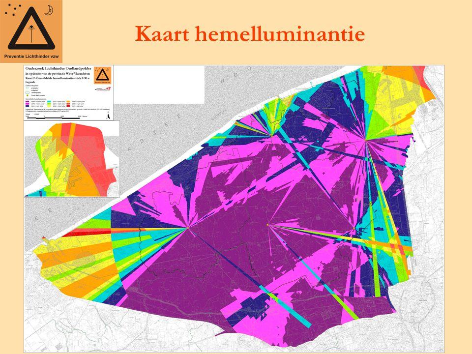 Kaart hemelluminantie