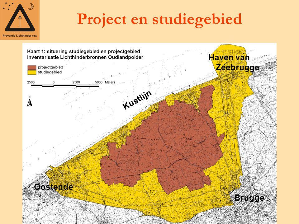 Project en studiegebied Kustlijn Brugge Oostende Haven van Zeebrugge