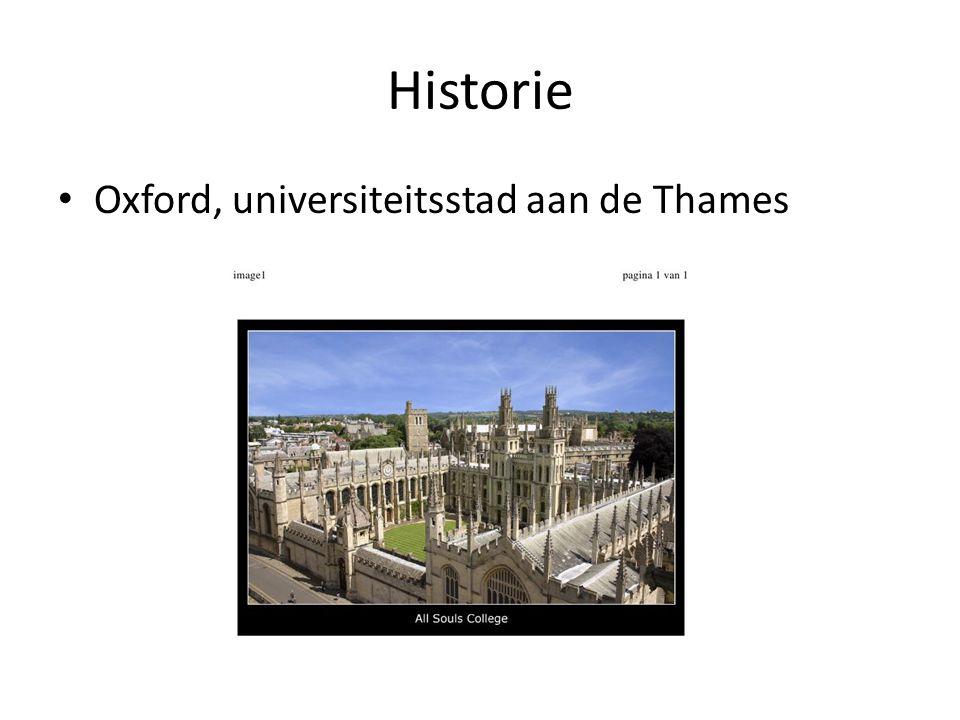 Historie Oxford, universiteitsstad aan de Thames