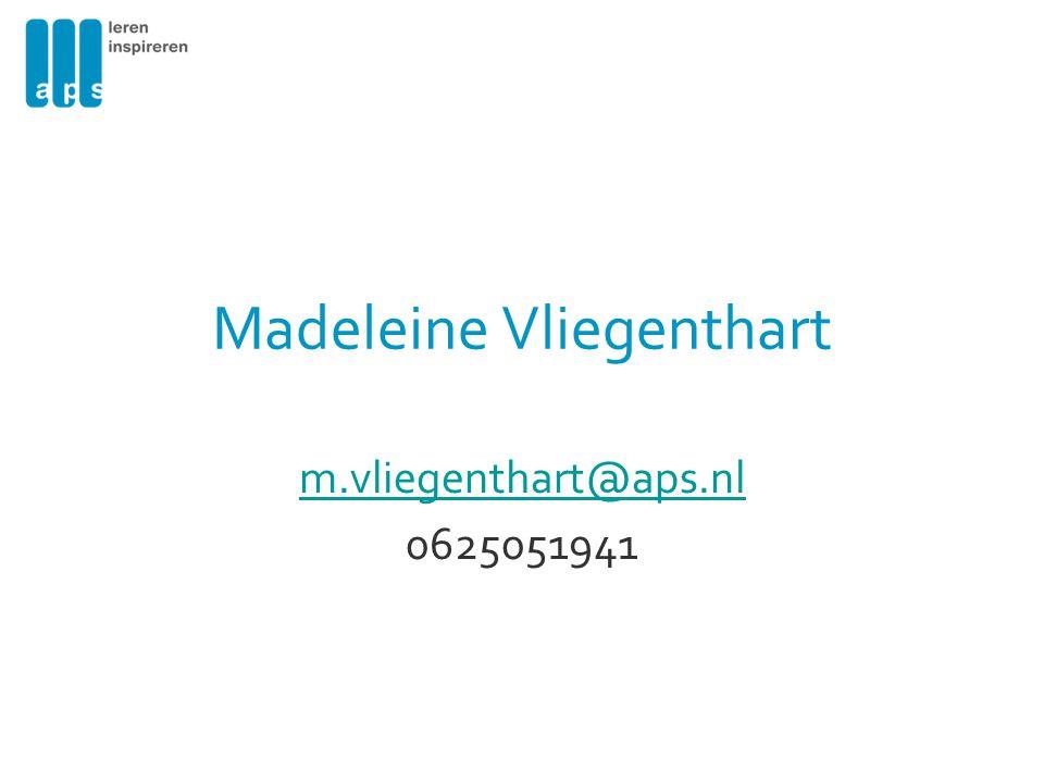 Madeleine Vliegenthart m.vliegenthart@aps.nl 0625051941