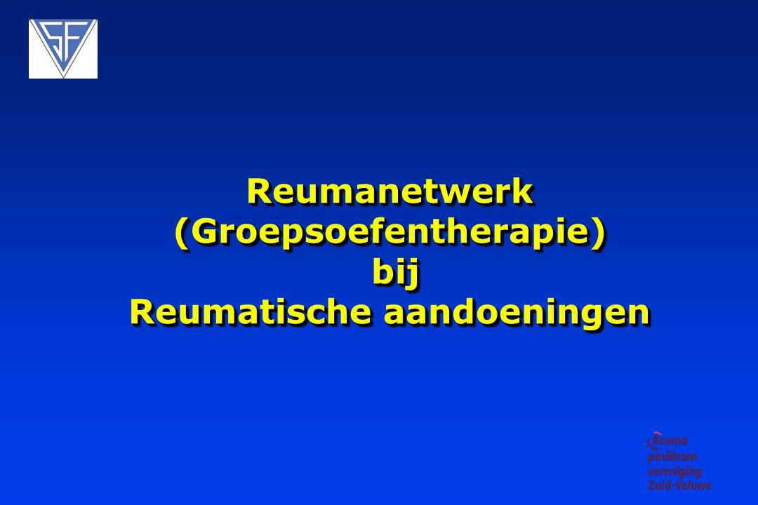 Inleiding Opstart groepsoefentherapie - netwerk reumatische aandoeningen.