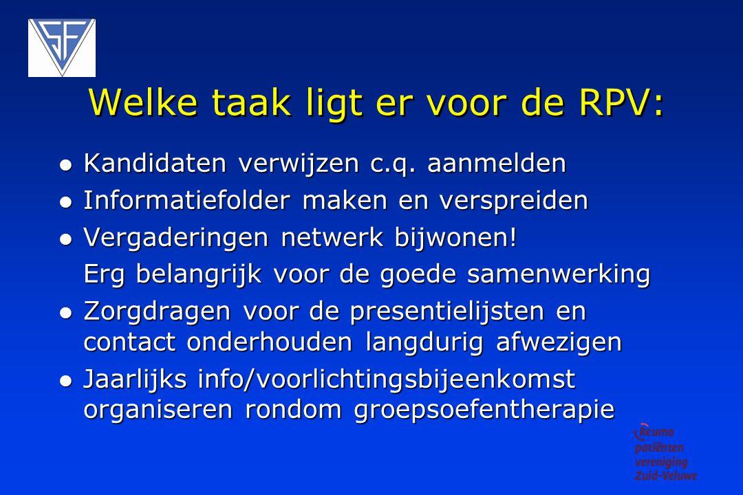 Welke taak ligt er voor de RPV: Kandidaten verwijzen c.q.