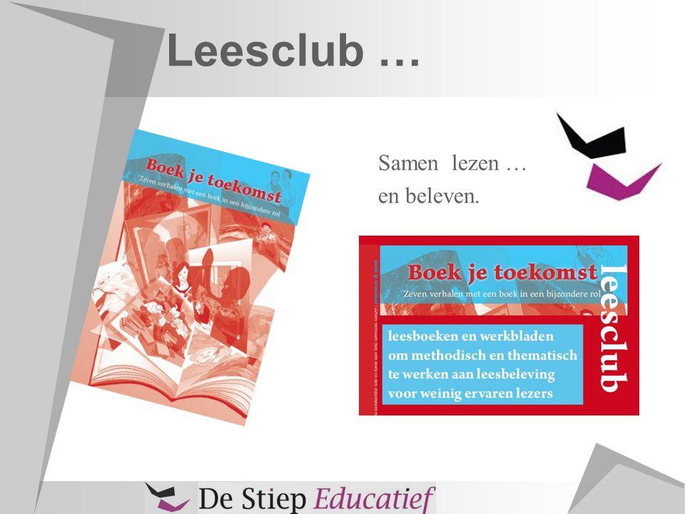 Leesclub … Samen lezen … en beleven.