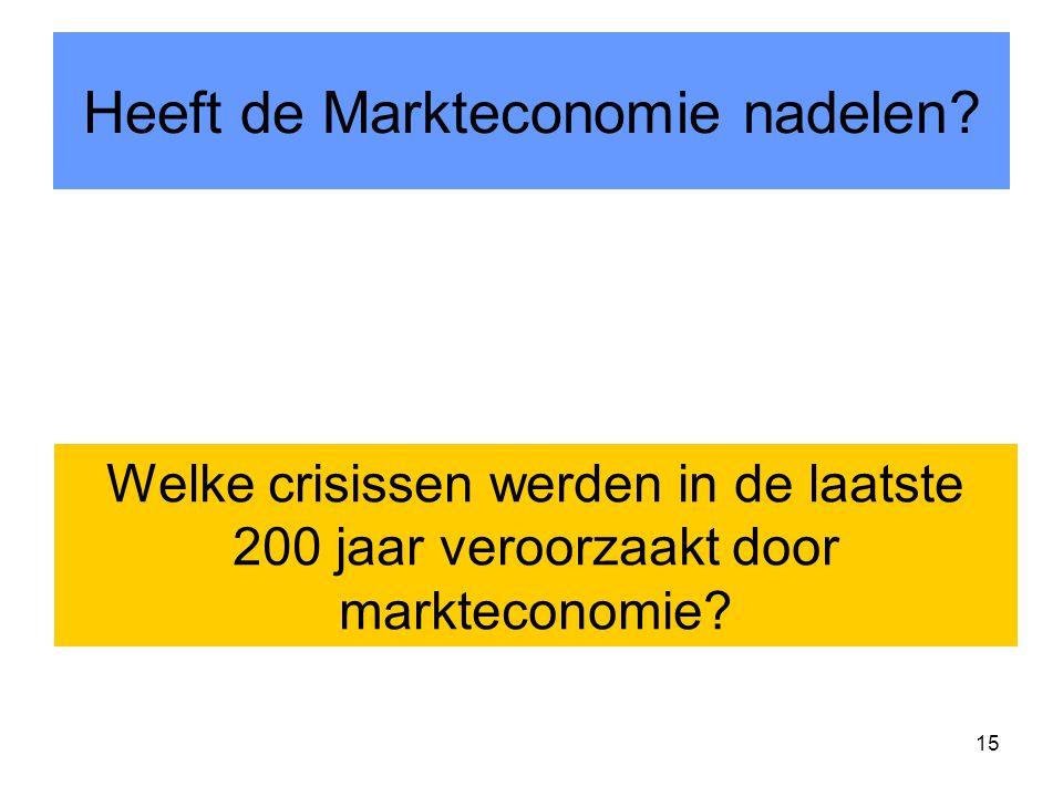 15 Heeft de Markteconomie nadelen.