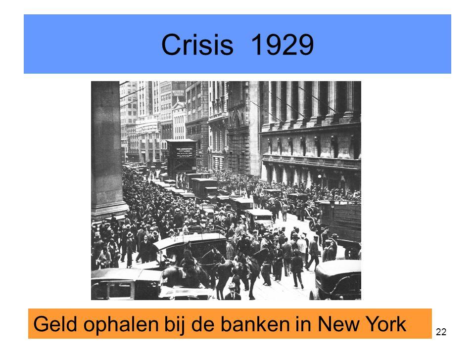 22 Crisis 1929 Geld ophalen bij de banken in New York