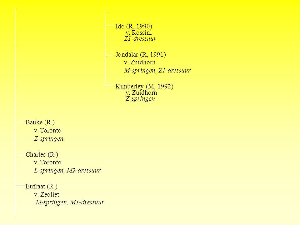 Ido (R, 1990) v. Rossini Z1-dressuur Jondalar (R, 1991) v.