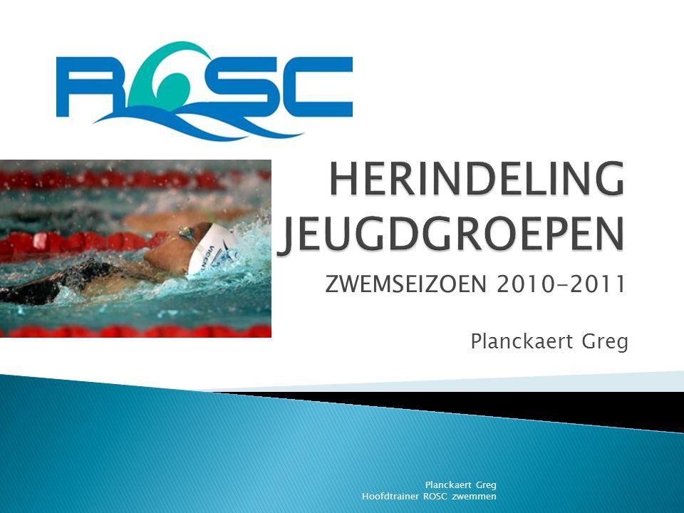 ZWEMSEIZOEN 2010-2011 Planckaert Greg Planckaert Greg Hoofdtrainer ROSC zwemmen