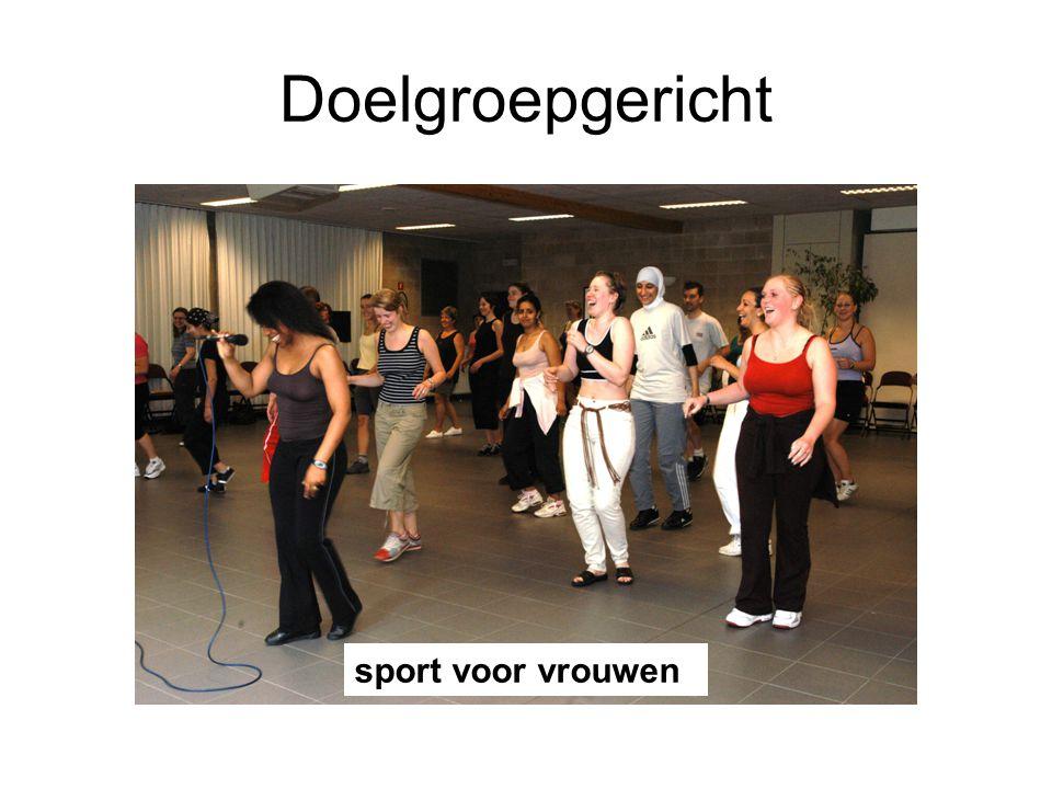 Doelgroepgericht sport voor vrouwen