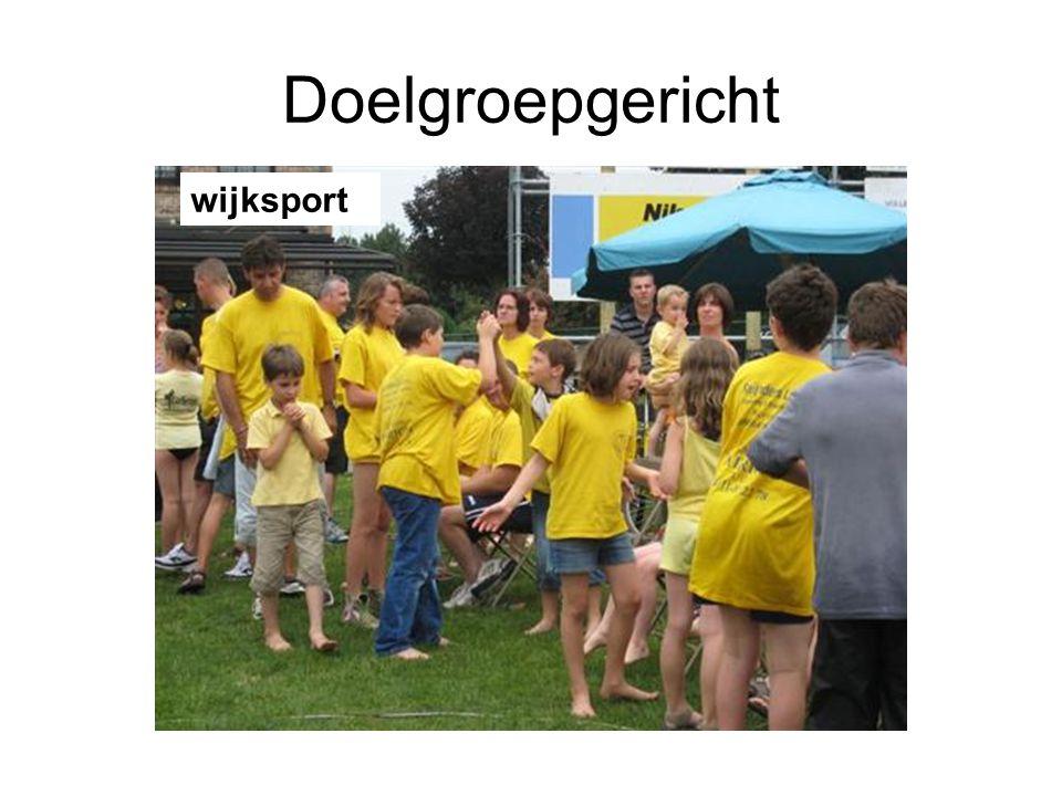 Doelgroepgericht wijksport