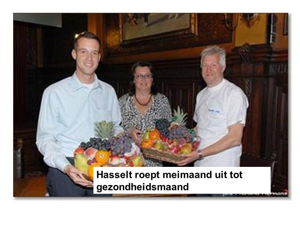 Hasselt roept meimaand uit tot gezondheidsmaand