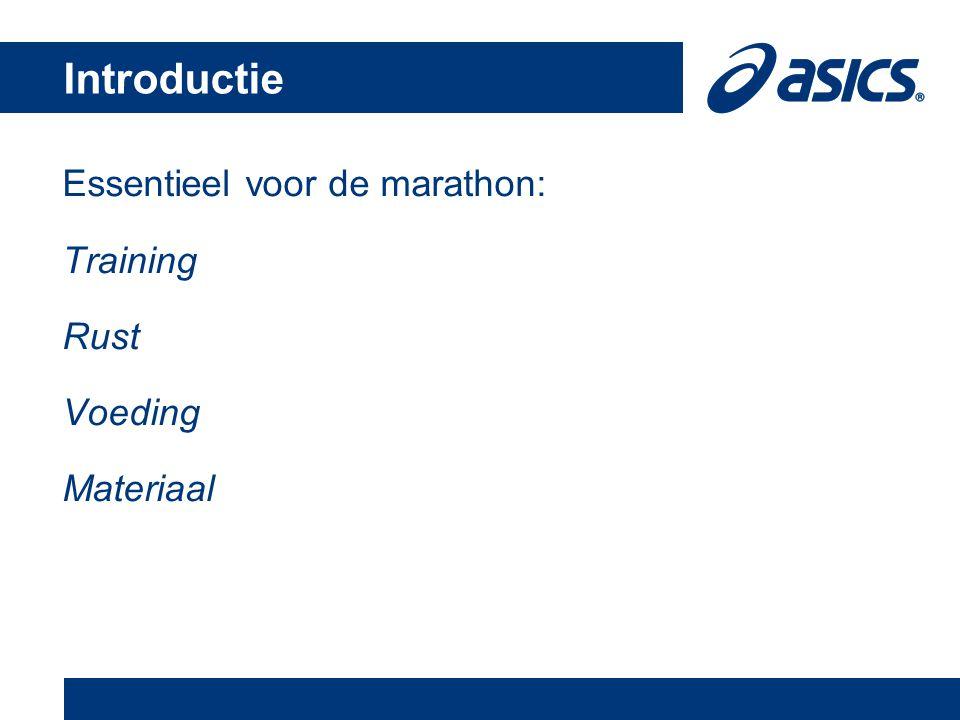 Essentieel voor de marathon: Training Rust Voeding Materiaal