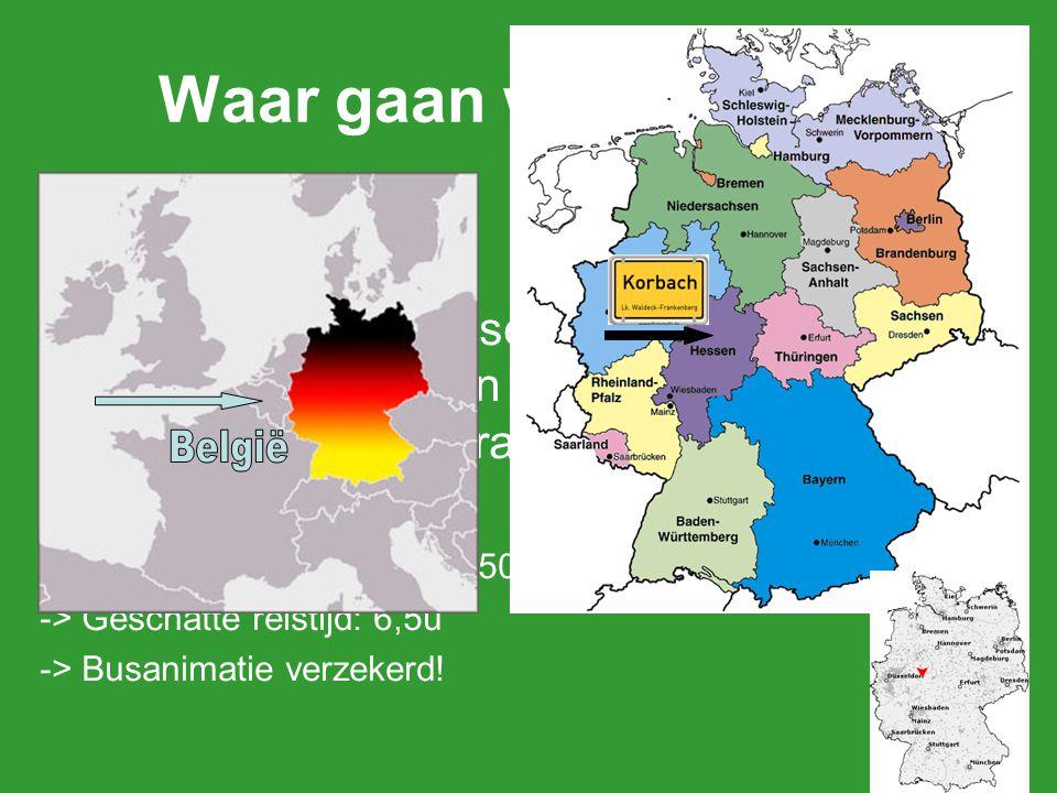Waar gaan we naar toe? Korbach is een stad in de Duitse deelstaat Hessen en ligt in het centrum van Duitsland, iets ten westen van het geografisch mid