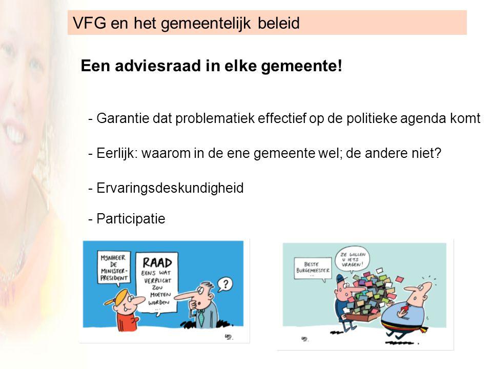 VFG en het gemeentelijk beleid Een adviesraad in elke gemeente.