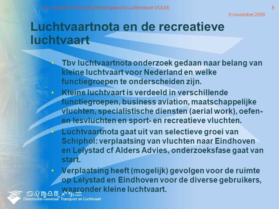 abcdefgh Directoraat-Generaal Transport en Luchtvaart 8 november 2008 mr.