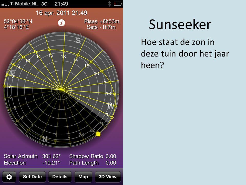 Sunseeker Hoe staat de zon in deze tuin door het jaar heen?