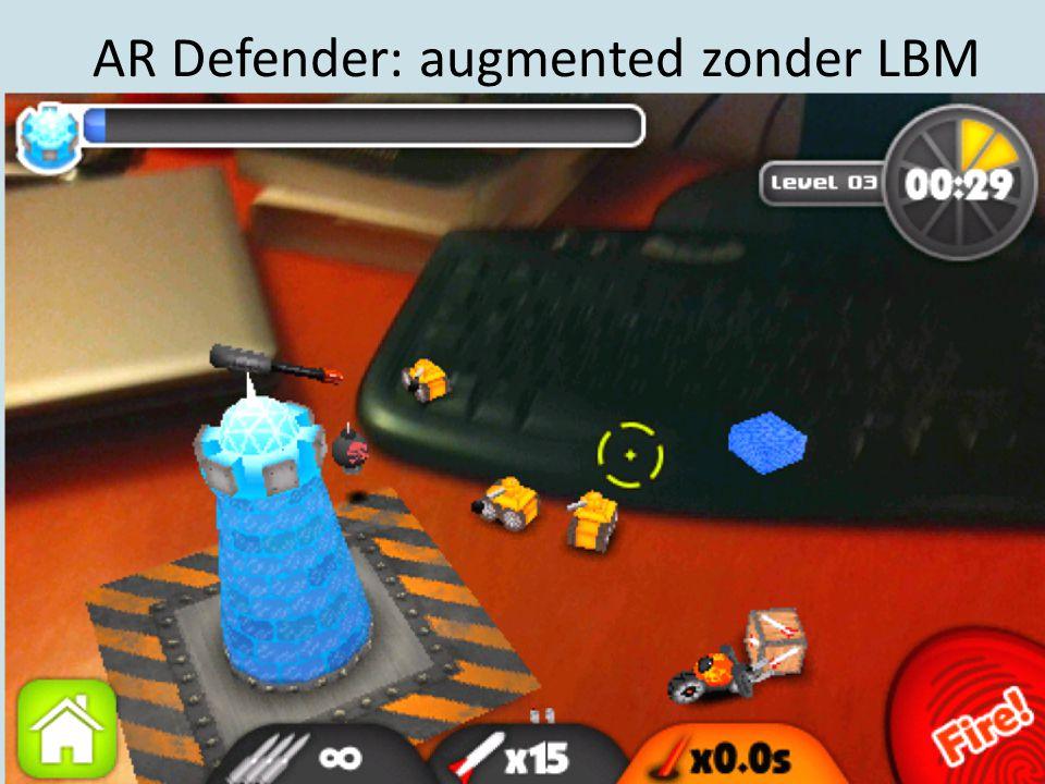 AR Defender: augmented zonder LBM