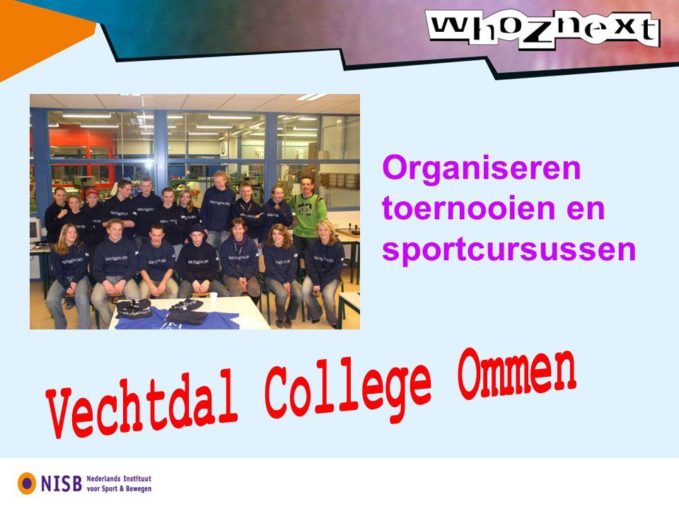 Organiseren toernooien en sportcursussen