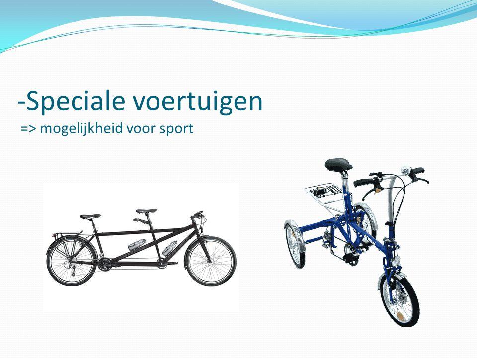 -Speciale voertuigen => mogelijkheid voor sport