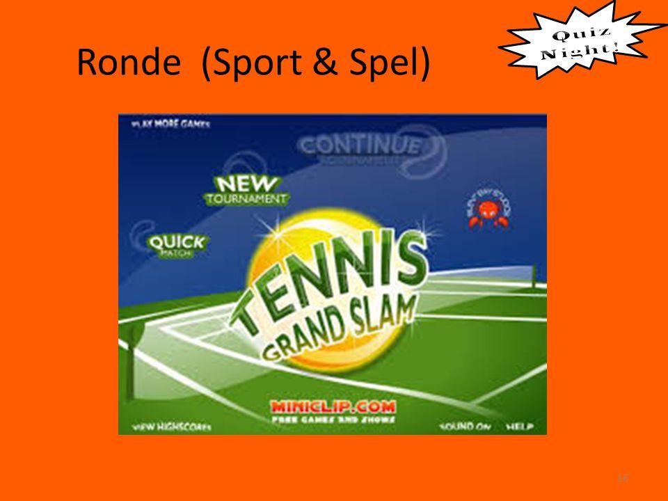 Ronde (Sport & Spel) 16