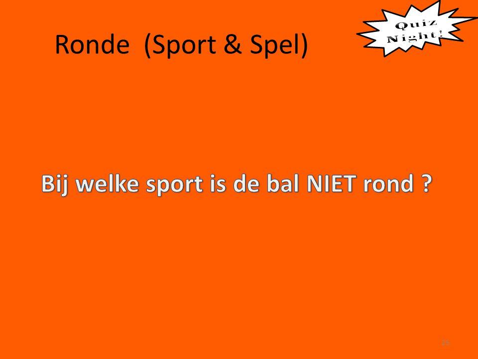 Ronde (Sport & Spel) 25